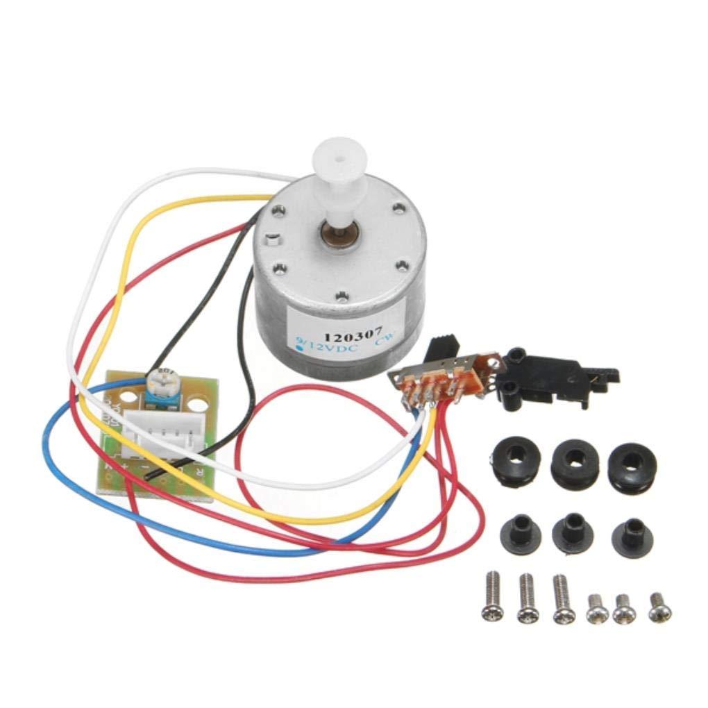 Yongse Motor de Tocadiscos DC 12 V con interruptores: Amazon ...