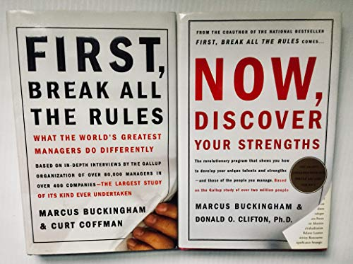 2 Books! 1) First,Break All The Rules 2) Now,Discover Your Strengths