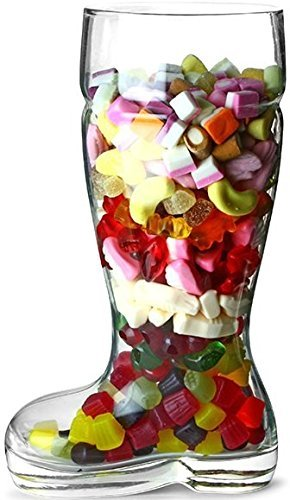 Circleware Das Boot Glass Beer Glasses Drinking Mug, Funny Shaped Entertainment Beverage Glassware for Water, Juice, Iced Tea, Liquor and Bar Barrel Liquor Dining Decor, 1 Boot, Large 1 Liter by Circleware (Image #3)