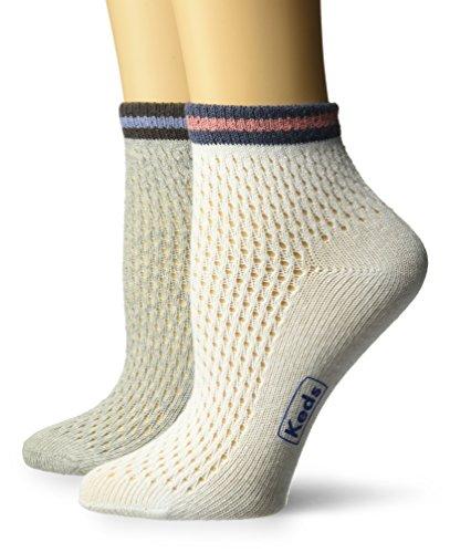 Keds Women's Sport MESH Pointelle Anklet, white assorted, Shoe Size: 4-10 ()