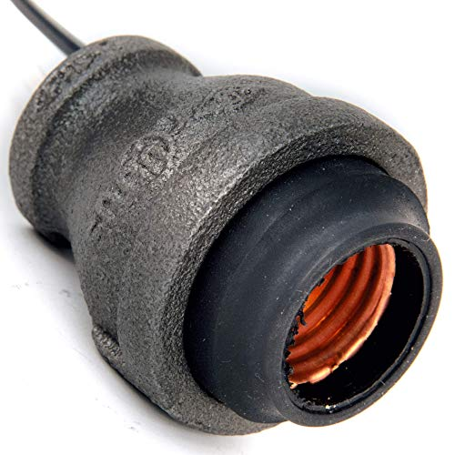 Pipe Wire - Industrial Black Iron Pipe Lamp Socket w/Wire Leads (3/4