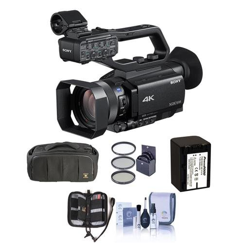 Sony PXW-Z90V Compact 1'' XDCAM 4K Camcorder with 3G-SDI Output - Bundle With Video Bag, Spare Battery, 62mm Filter Kit, Memory Wallet, Cleaning KIt
