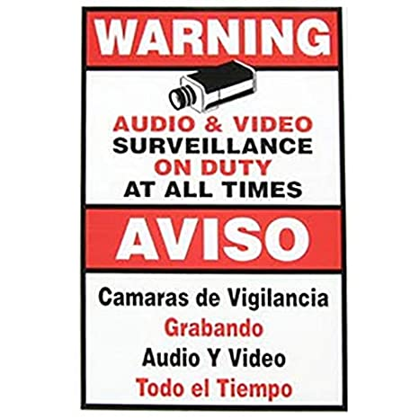 CCTV Warning Surveillance Camera Sign Spanish/English