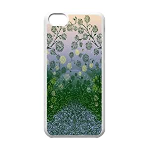 Fantasy Plants IPhone 5C Cases, Iphone 5c Cases for Girls Protective Girls Okaycosama - White