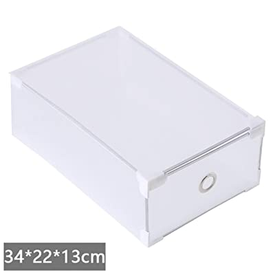 Alonea Non-toxic Foldable Clear Plastic Shoe Box Drawer Stackable Storage Organiser