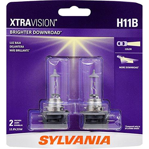 SYLVANIA - H11B XtraVision - High Performance Halogen Headlight Bulb, High Beam, Low Beam and Fog Replacement Bulb (Contains 2 Bulbs)