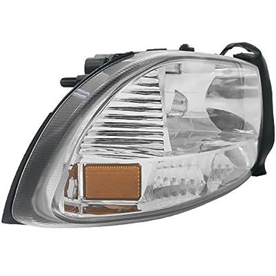 AJP Distributors 1 Piece Headlights Lamps Bumper Corner Lights For Dodge Dakota Durango 1997 1998 1999 2000 2001 2002 2003 2004 97 98 99 00 01 02 03 04 (Chrome Housing Clear Lens Amber Reflector): Automotive
