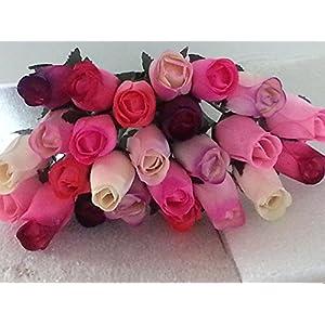 2 Dozen Wooden Roses Mixture of 8 Colors-Little Chicago Distributing 104