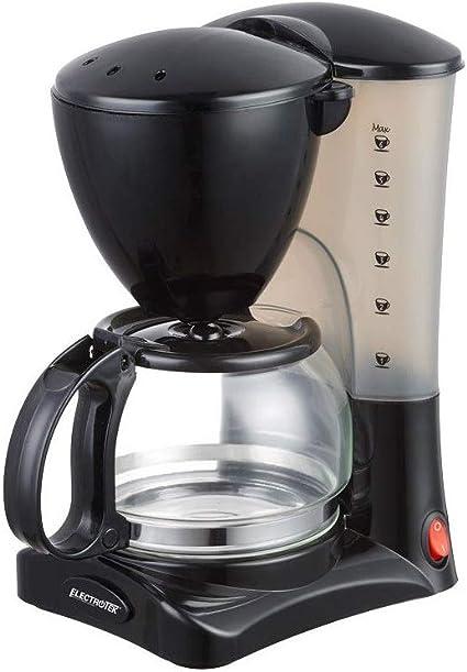 ELECTROTEK Cafetera Goteo electrica 5-6 Tazas café Jarra 0.6L 550W ...