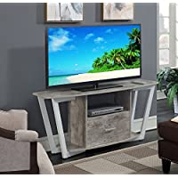 Convenience Concepts 112085GYWF Graystone TV Stand Stone, 60, Gray/White