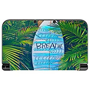 Blue Surfboard Breathe Design Print Image New 3DS XL 2015 Vinyl Decal Sticker...