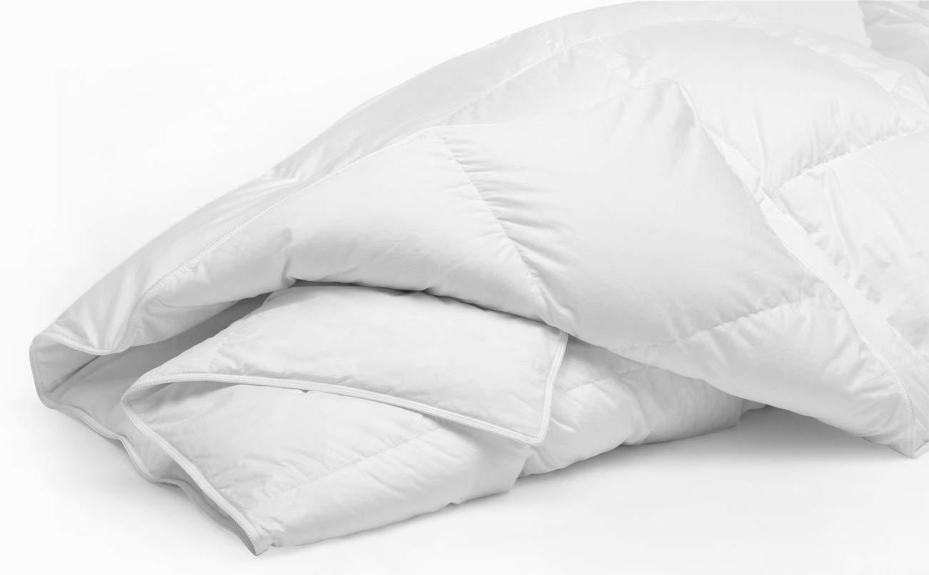 Mezzati Comforter Duvet Cover Insert - Goose Down Alternative with Box Stitching Design - Soft and Lightweight Hypoallergenic Bedding (Full/Queen, White) COMIN18JU053752