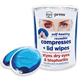 Eye-Press Compresses + Lid Wipes, 10 Count Each (Pack of 2)