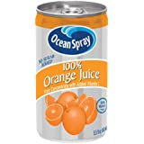Ocean Spray 100% Orange Juice Mini Cans, 5.5 Ounce (Pack of 48)