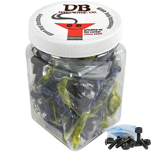 Bulk Dime Bag Skateboard Hardware 7/8'' Phillips Black 25 Sets Shop Display Case by Dime Bag Hardware