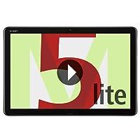 "Huawei MediaPad M5 Lite - Tablet (25.6 cm (10.1""), 1920 x 1200 Pixeles, 32 GB, 3 GB, Android 8.0, Gris)"