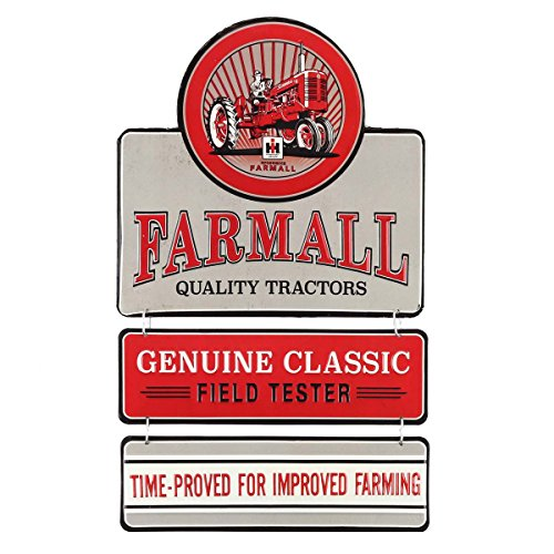 - Open Road Brands Farmall Quality Tractors Embossed Metal Linked Sign