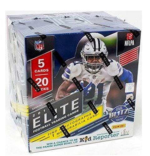 2019 Panini Elite NFL Football HOBBY box (20 pks/bx) (Elite Basketball Card Box)