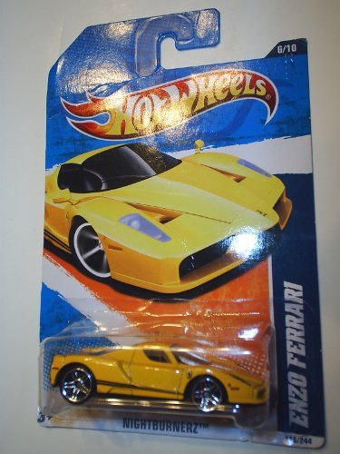 HOT WHEELS 2011 NIGHTBURNERZ 6/10 YELLOW ENZO FERRARI
