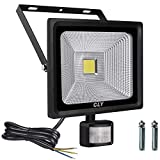 Cly 30W Security Lights, LED Floodlight with Motion Sensor, 75W HPS Lights Equivalent Replaced, Daylight White 2700 Lumen IP66 Waterproof Security Light,Outdoor Flood Lights Se