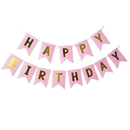 Amazon.com: Banderines de felicitación de cumpleaños, diseño ...