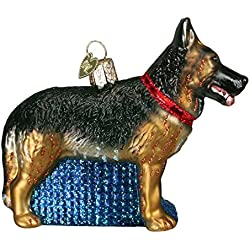 Old World Christmas German Shepherd Glass Blown Ornament