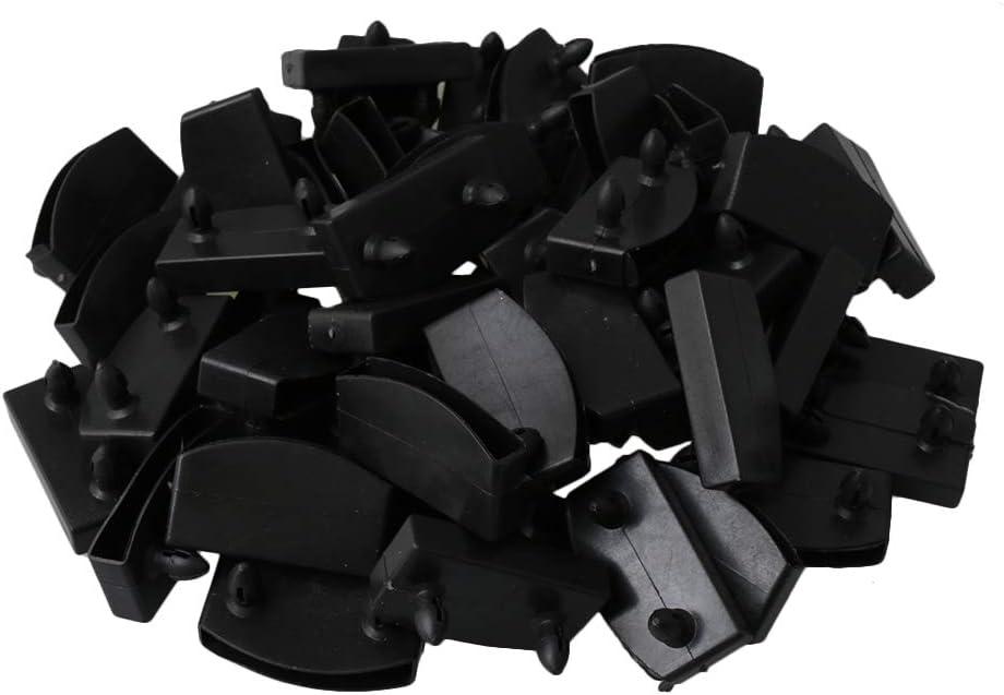 BQLZR Soportes de plástico para somier o somier de láminas de madera de repuesto para sujetar y asegurar somier de láminas de madera, paquete de 50