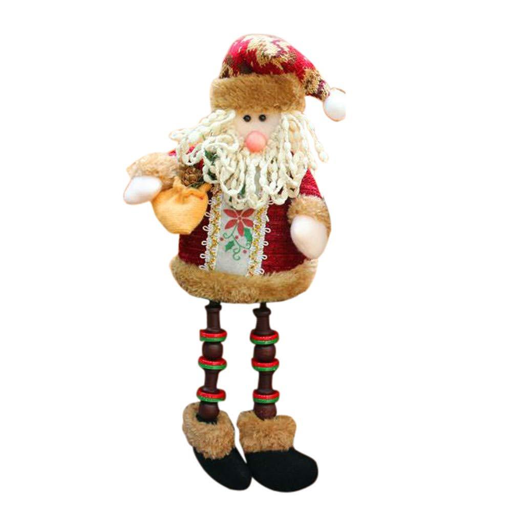 Christmas Decorations Santa Claus Sitting Porcelain Snowman Christmas Ornament (A)
