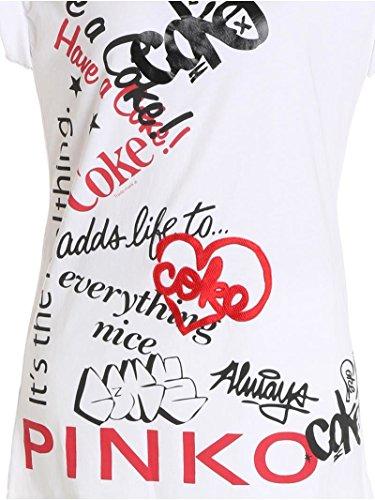 Pinko T-Shirt Donna 1N11WTY4FHZ04 Cotone Bianco
