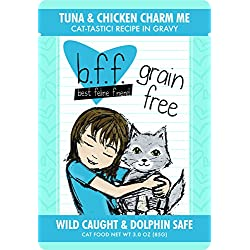 Best Feline Friend (B.F.F.) Tuna & Chicken Charm Me with Tuna & Chicken in Gravy Cat Food by Weruva, 3oz Pouch (Pack of 12)