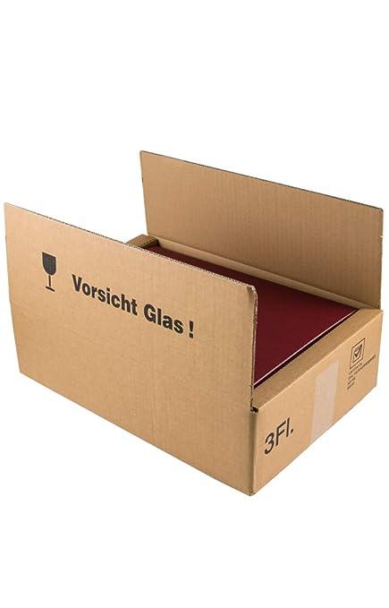 Caja de cartón para paquetes de regalo de vino DHL probado ...