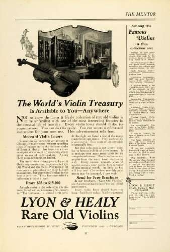 1922 Ad Lyon Healy Violins Musical Instrument Stringed Music Mecca Chicago Viola - Original Print Ad from PeriodPaper LLC-Collectible Original Print Archive