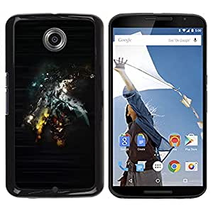 YiPhone /// Prima de resorte delgada de la cubierta del caso de Shell Armor - Abstract Sci Fi Art - Motorola NEXUS 6 / X / Moto X Pro