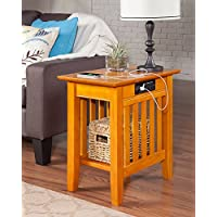 Atlantic Furniture AH13217 Mission Side Table Rubberwood, Walnut