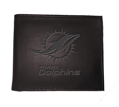 (Team Sports America NFL Miami Dolphins 7WLTB3816Wallet, Bi-Fold, Miami Dolphins, Black )