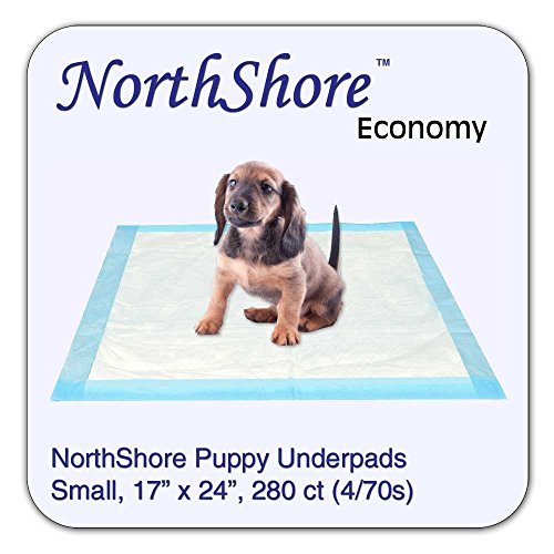 Economy Pet Bed (NorthShore Economy, 17 x 24, 6 oz, Puppy Pads, Small, Case/280 (4/70s))