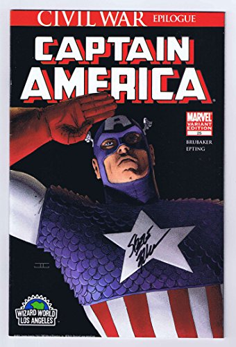 Captain America #25 Wizard World LA Exclusive Variant Cover Signed w/COA Steve Epting VF/NM 2007 Marvel - Epting Cover