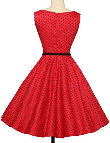 Colore B Vestito Dress Vintage Donna Senza maniche GK OKS6RwgqK