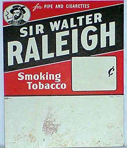 Sir Walter Raleigh Pipe Tobacco Cardboard Sign