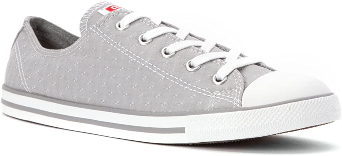 womens light grey converse chuck taylor all star craft ox
