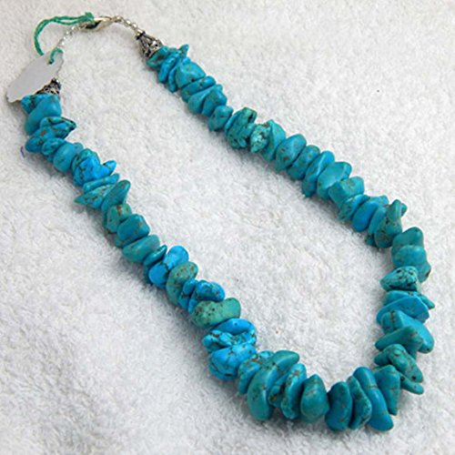 Turquoise Beads Necklace 19.5 inch Blue Turquoise Nugget Beads Designer Quality Gemstone Beads, Blue Turquoise Beads