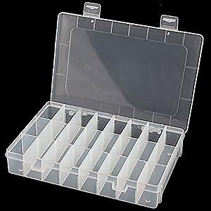 Amazon Com Adjustable 24 Compartment Slot Plastic Storage