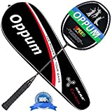 OPPUM Graphite Badminton Racket Integral Moulding Craft Racket Full Carbon Fiber Material Lightweight 1 Player Badminton Racquet-Black For Sale