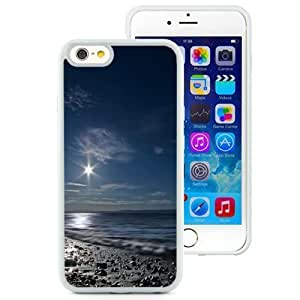 NEW Unique Custom Designed iPhone 6 4.7 Inch PC Phone Case With Shining Moon Over Sea_White Phone Case BY supermalls