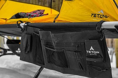 TETON Sports Cot Organizer; Great Camping and Hunting Gear; Perfect Companion to The Camping Cots; A Must Have
