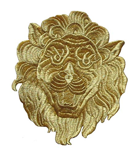 MY HOPE Sticker Gold Royal Lion Embroidery Iron On Applique Patch 6
