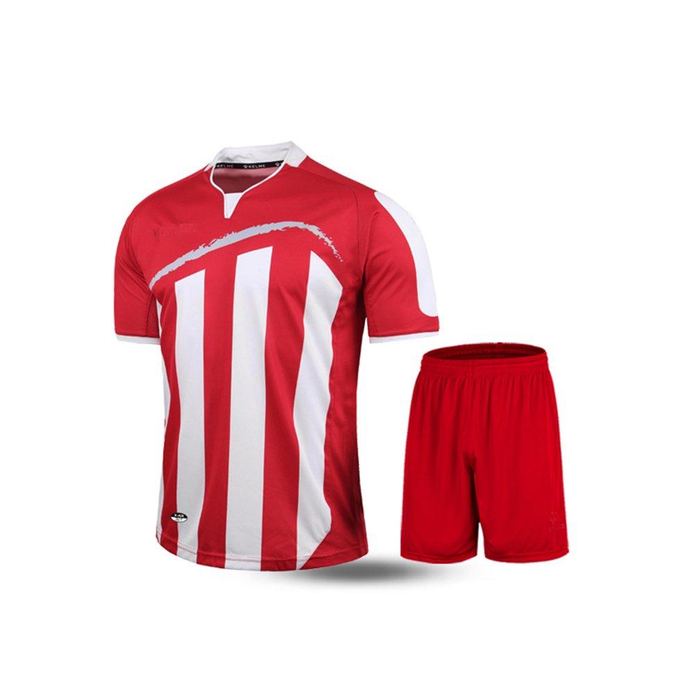 Kelme半袖サッカースポーツストライプUniform B01ELACB56 3L|ホワイト/レッド ホワイト/レッド 3L