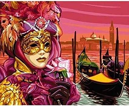 beauté code promo super qualité CYKEJISD Wonman Vénitien en Peinture De Masques À Colorier ...