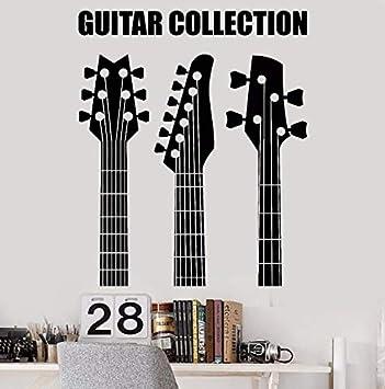 Vinilo Adhesivo de pared Colección de guitarra extraíble Tienda ...