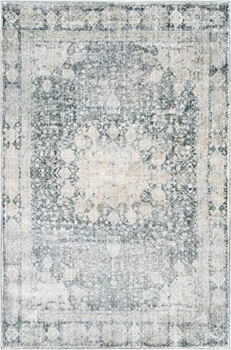 Unique Loom Asheville Collection Vintage Traditional Medallion Gray Area Rug (4' 0 x 6' 0)
